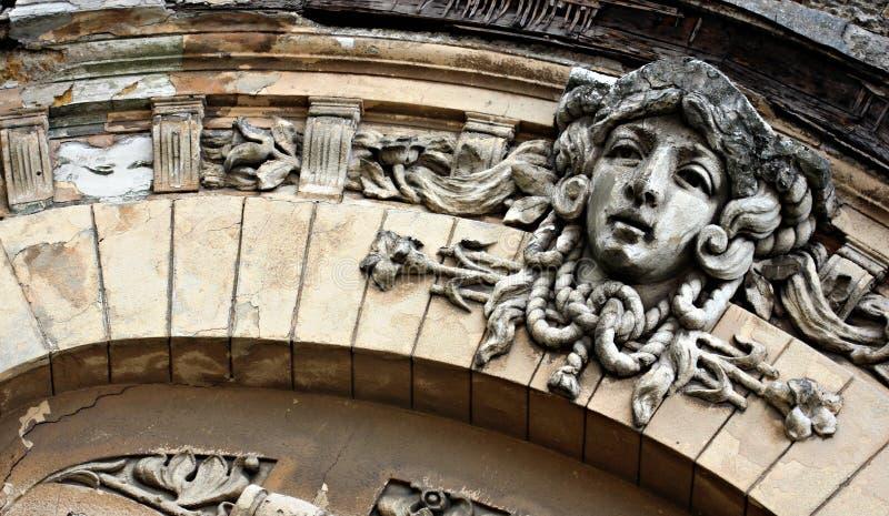 Fassade in Odessa, Ukraine stockbild