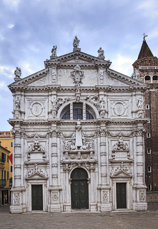 Fassade Venedigs Chiesa Di San Moise stockfotografie