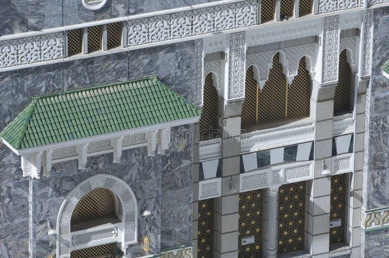 Fassade von Al Haram von Al Kaaba stockbild