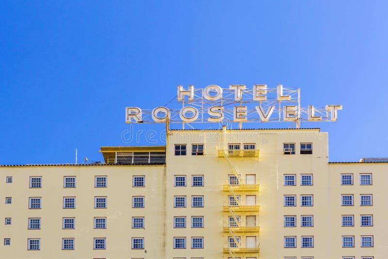 Fassade von berühmtem historischem Roosevelt stockbild