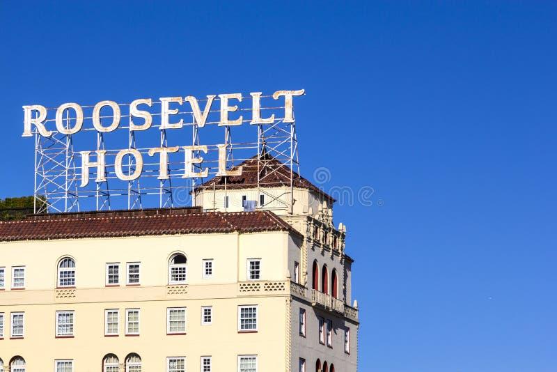 Fassade von berühmtem historischem Roosevelt lizenzfreies stockfoto