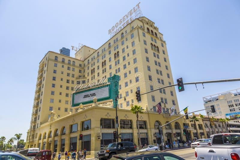 Fassade von berühmtem historischem Roosevelt Hotel lizenzfreies stockbild