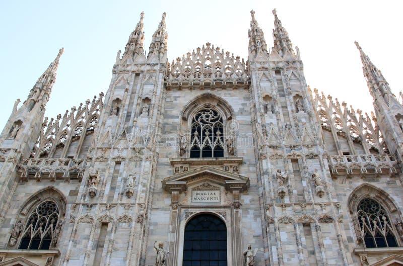 Fassade von Duomodi Mailand, Mailand, Italien stockbild