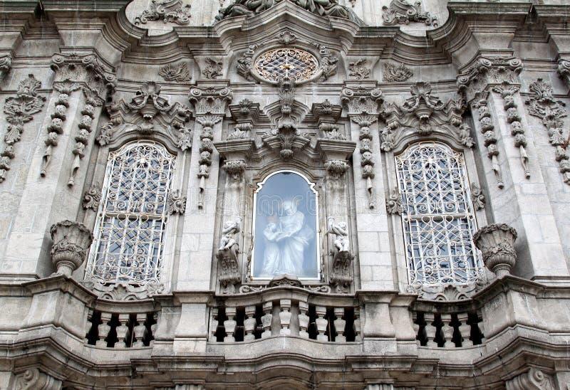 Fassade von Igreja tun Carmo in Porto, Portugal lizenzfreies stockfoto