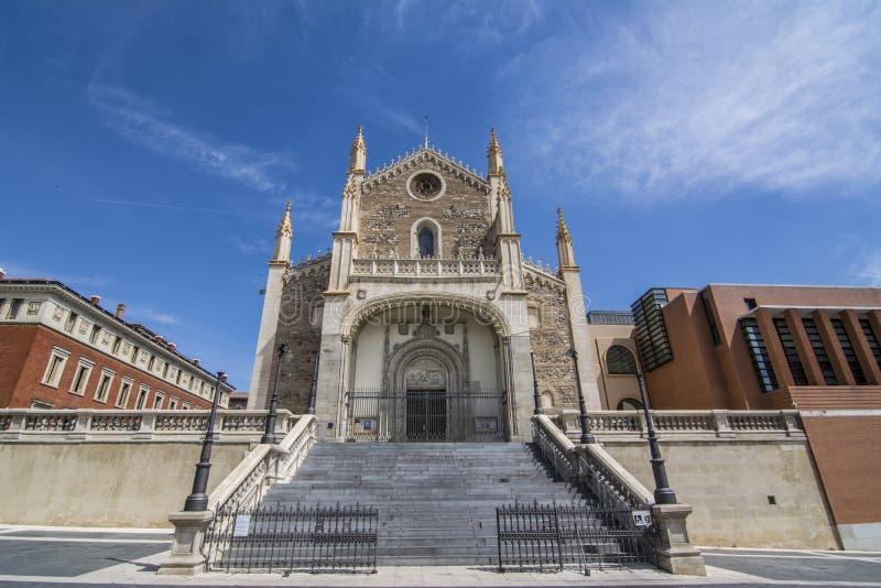 Fassade von San Jeronimo el Real Church, Madrid, Spanien lizenzfreie stockfotos