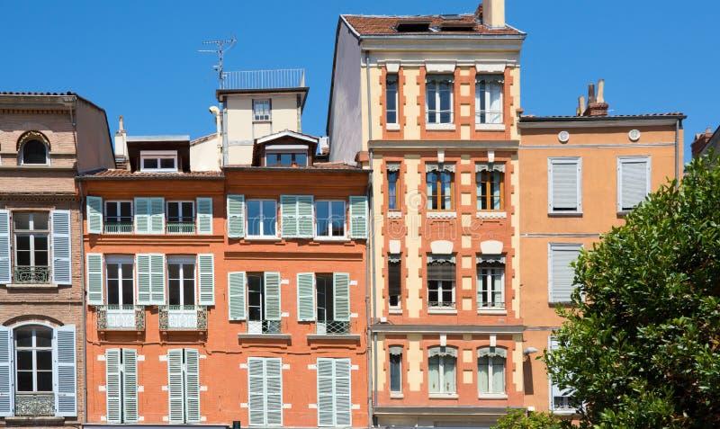 Fassaden von Toulouse stockfotografie