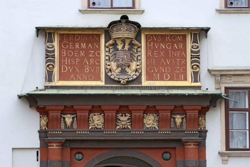 Fassadendekoration des Palastes Hofburg in Wien, Österreich lizenzfreie stockfotografie