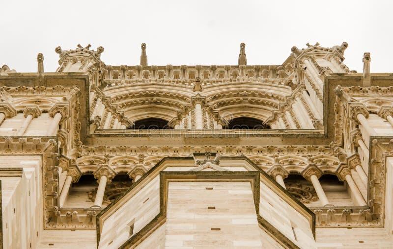 Fassadendetail Notre Dame de Paris lizenzfreie stockfotos