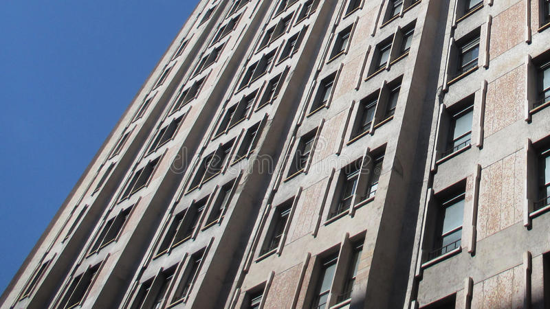 Fassadenperspektiventapete lizenzfreie stockfotos