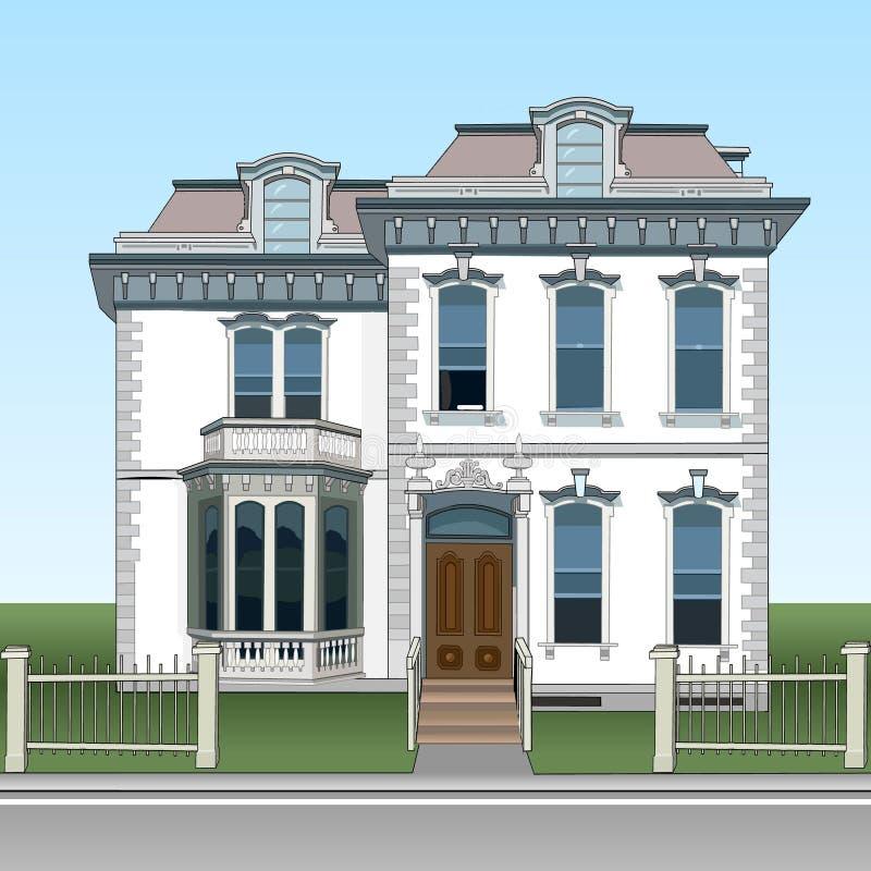 Amazing Download Fassadenzweigeschosshaus, Verziert Mit Stuck Individualität Im Bau  Des Hauses Elemente Von Klassikern Dem Aussehen