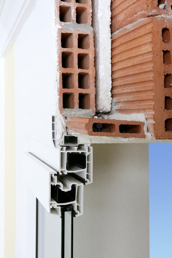 Fassadewandquerschnitt des Belüftungs-Fensters lizenzfreies stockbild