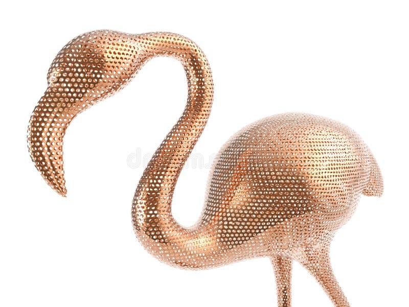 Fassbindermasche des Flamingos 3D vektor abbildung