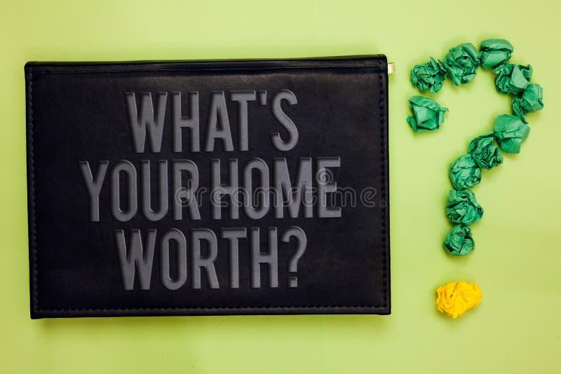 Fassen Sie Schreibenstext ab, welches s wert Frage Ihr Haupt ist Geschäftskonzept für Wert einer Grundbesitz-Selbstkostenpreis-Ra lizenzfreie stockbilder