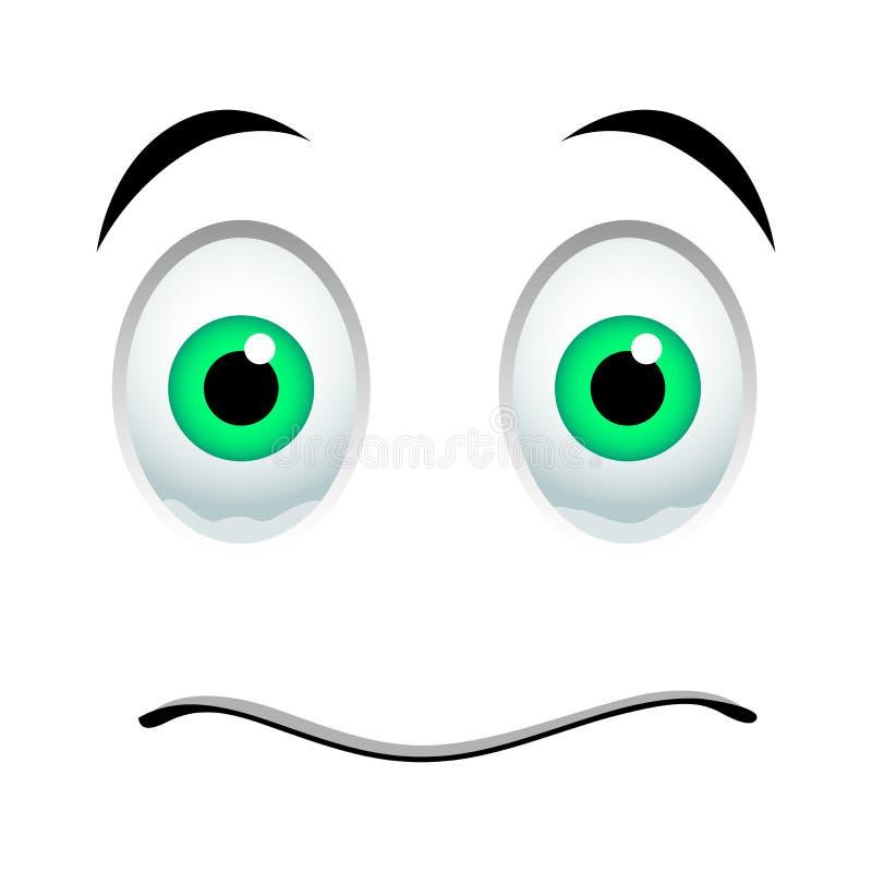 Fassungsloses Emoticonzeichen vektor abbildung