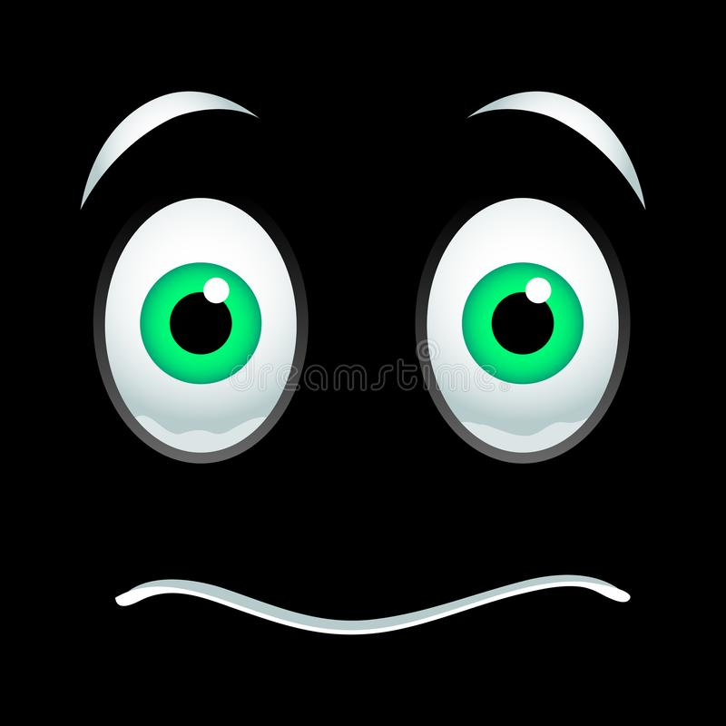Fassungsloses Emoticonzeichen lizenzfreie abbildung