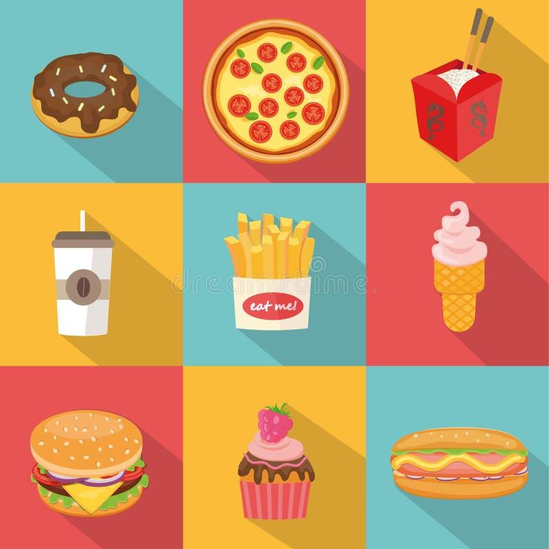 Fastów food symbole ilustracja wektor