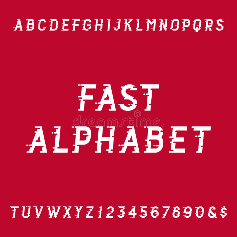 Fast alphabet vector font. royalty free illustration