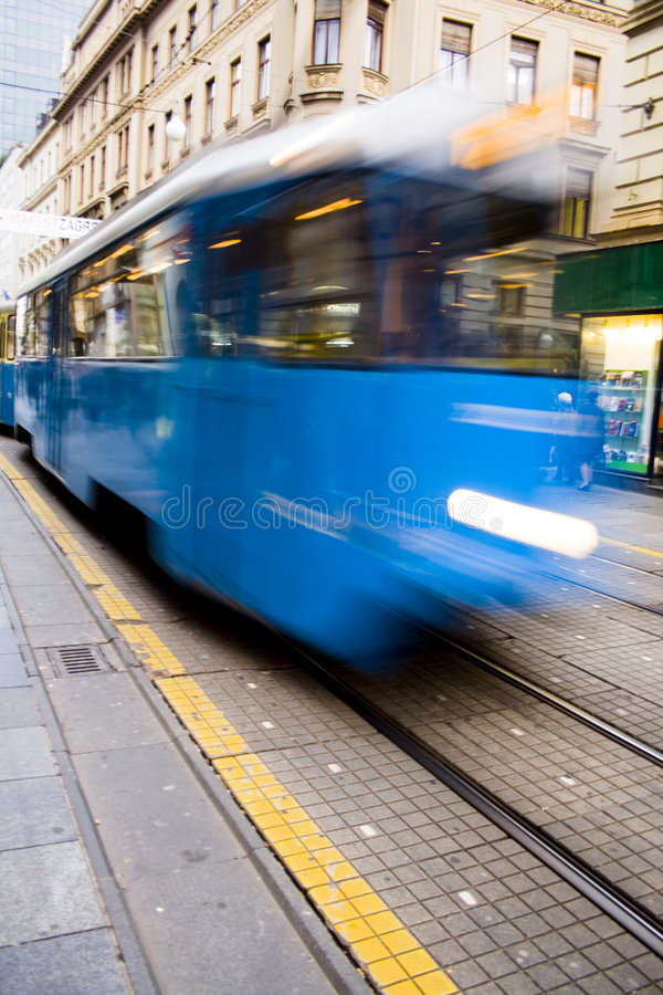 Download Fast blue tramway stock photo. Image of path, acceleration - 3817148