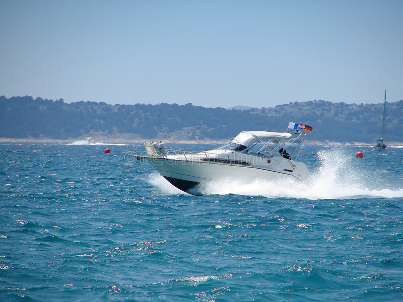 Download Fast boat stock photo. Image of white, blue, luxurious - 5259696