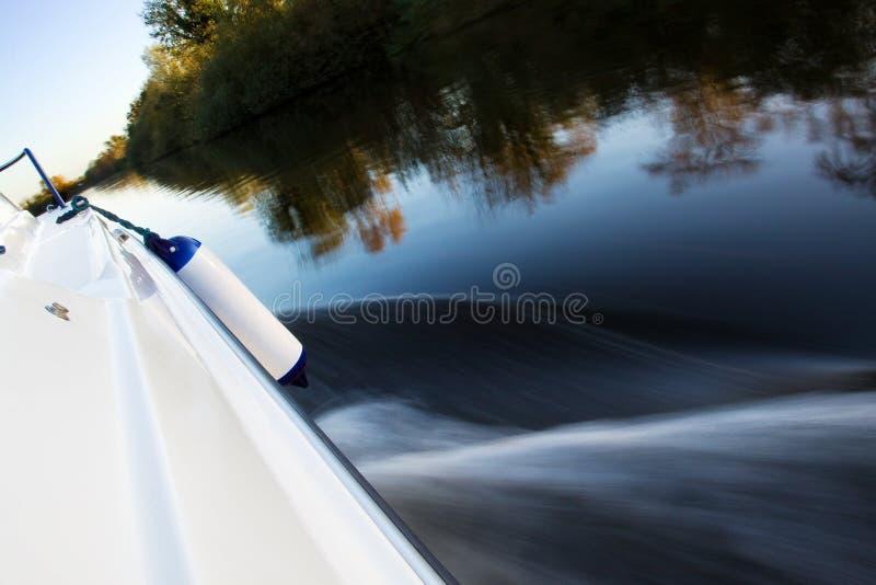 Fast boat cruising royalty free stock photos