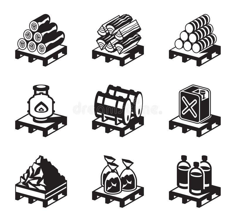 Fast bränsle för hemmabruk stock illustrationer