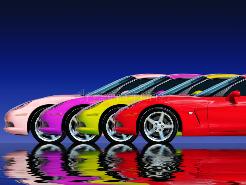 Fast Car Collection stock image