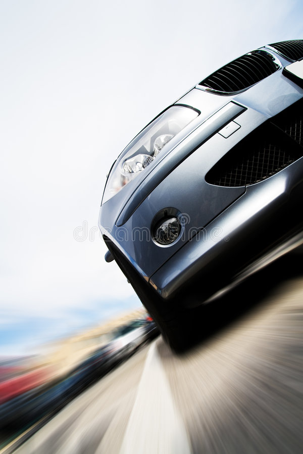 Fast car moving with motion blur. Very fast car moving with motion blur