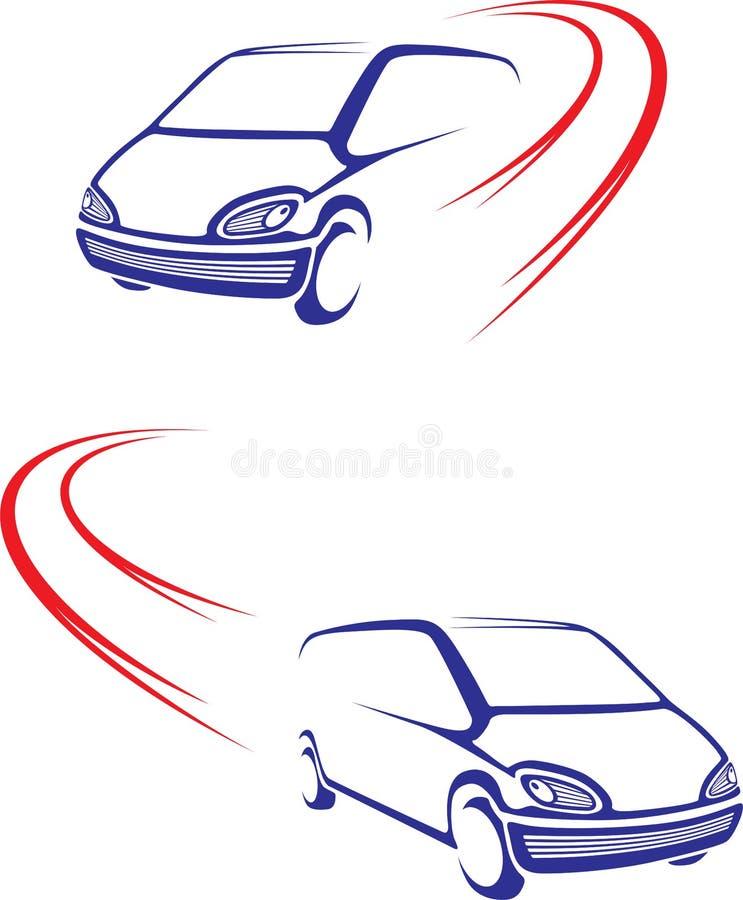 Fast car on road royalty free illustration