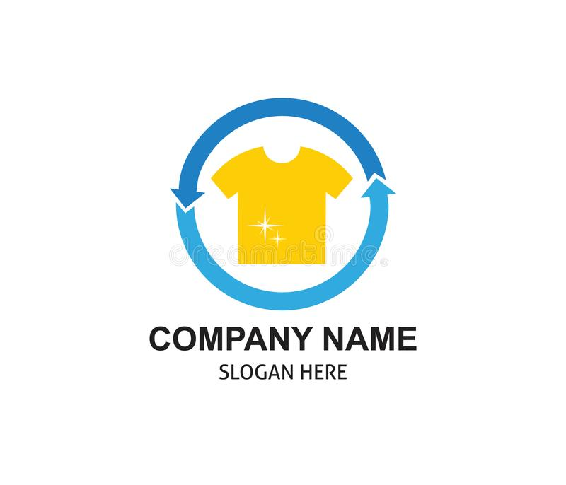 fast and clean laundry service logo design royalty free illustration