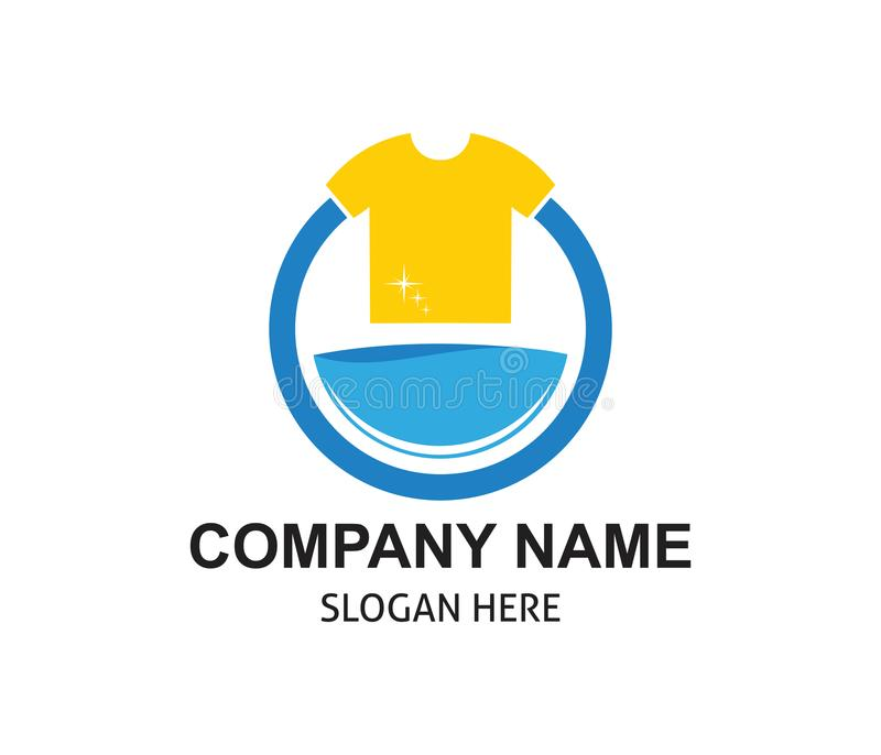 Fast and clean laundry service logo design. Template royalty free illustration