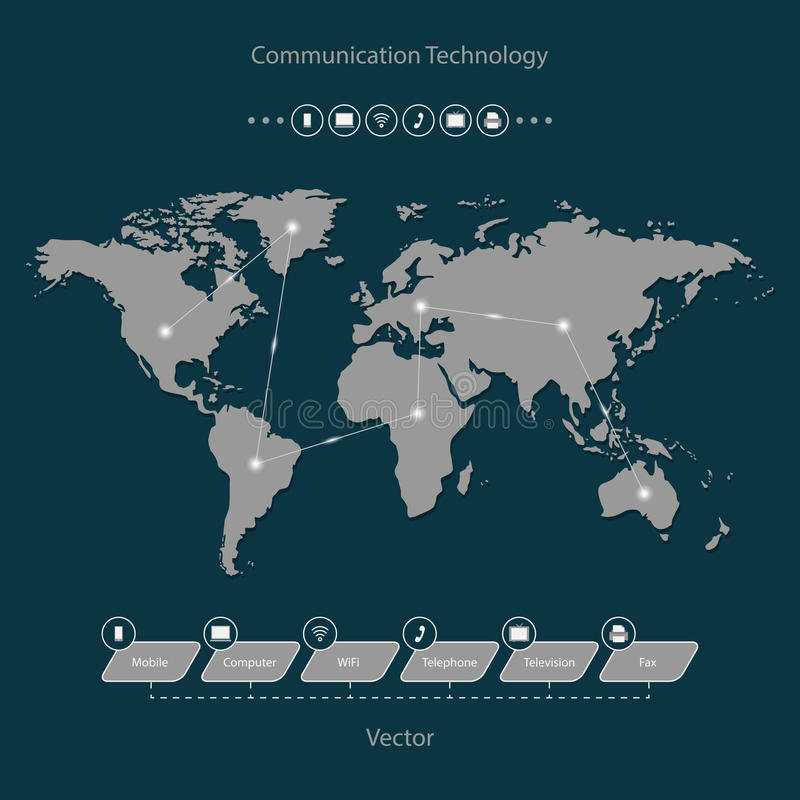 Fast communication. Global communication technology is fast vector illustration