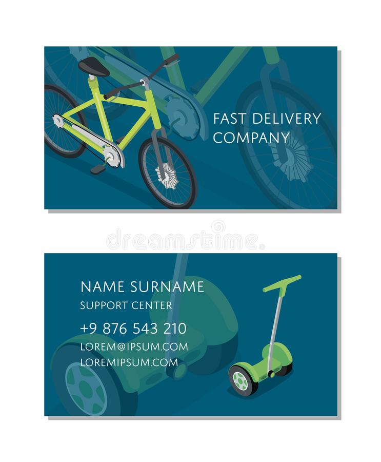 Fast delivery company business card template stock vector download fast delivery company business card template stock vector illustration of corporate identity reheart Images