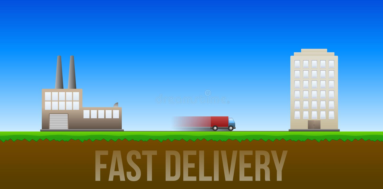 Download Fast delivery illustration stock illustration. Illustration of blue - 25898892