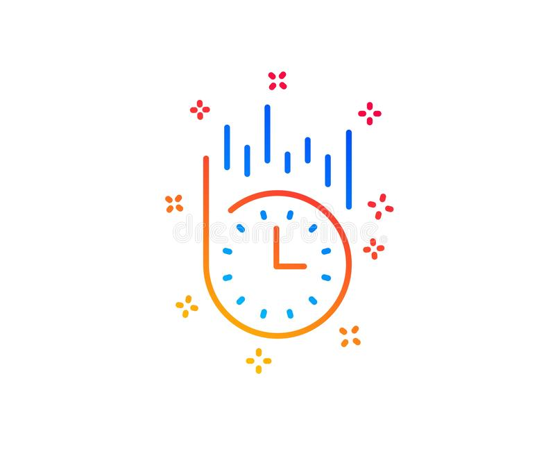 Fast delivery line icon. Time sign. Vector. Fast delivery line icon. Time sign. Gradient design elements. Linear fast delivery icon. Random shapes. Vector vector illustration