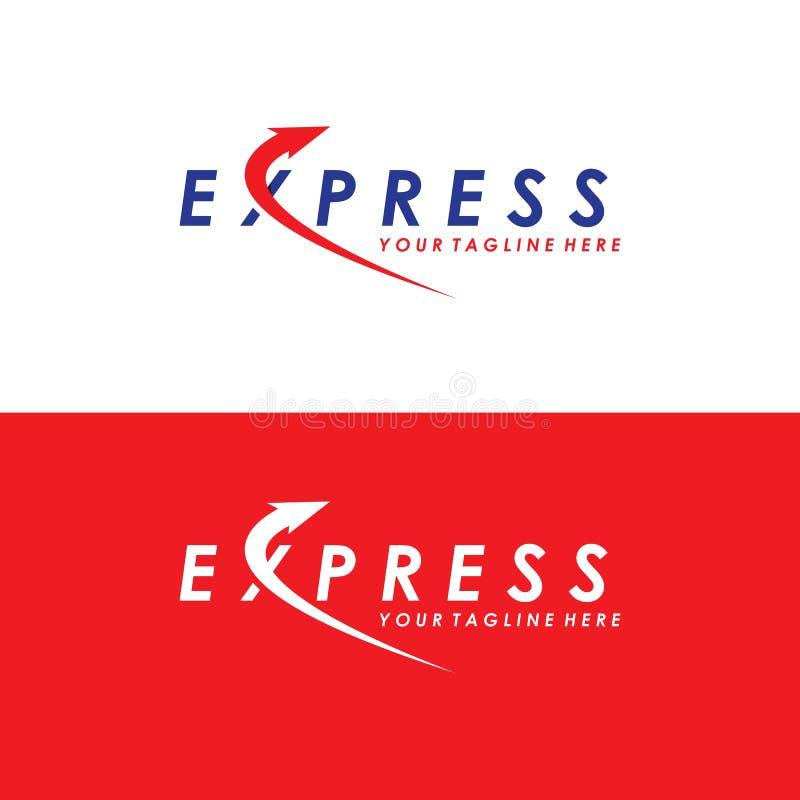 Fast Delivery logo design template ilustration vector. stock illustration