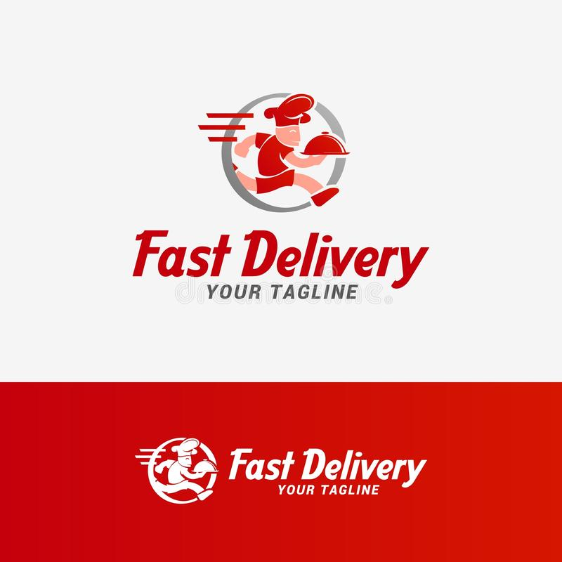 Fast Delivery Logo royalty free illustration