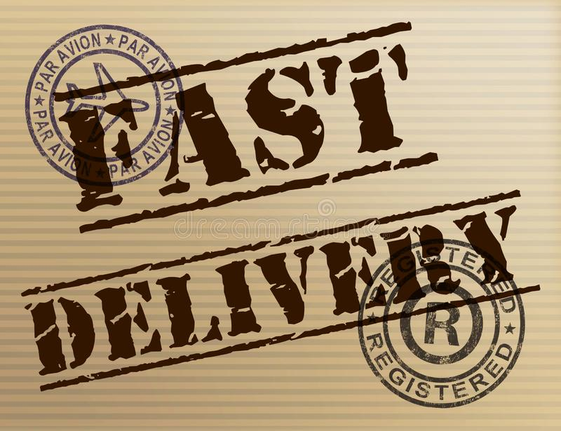Fast delivery means Express service for distribution of goods - 3d illustration. Fast delivery means Express service for distribution of goods. Quick mailing of vector illustration