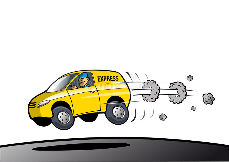 Download Fast delivery service stock illustration. Image of speed - 7070988