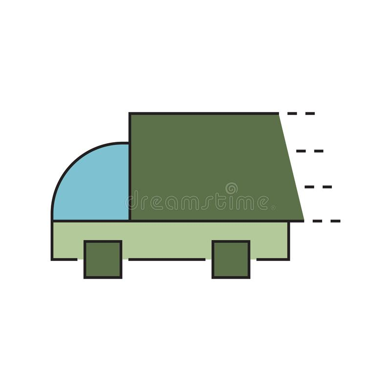 Fast delivery truck icon. Truck Car icon template color editable. Delivery Truck symbol vector sign isolated on white background. Simple logo vector vector illustration