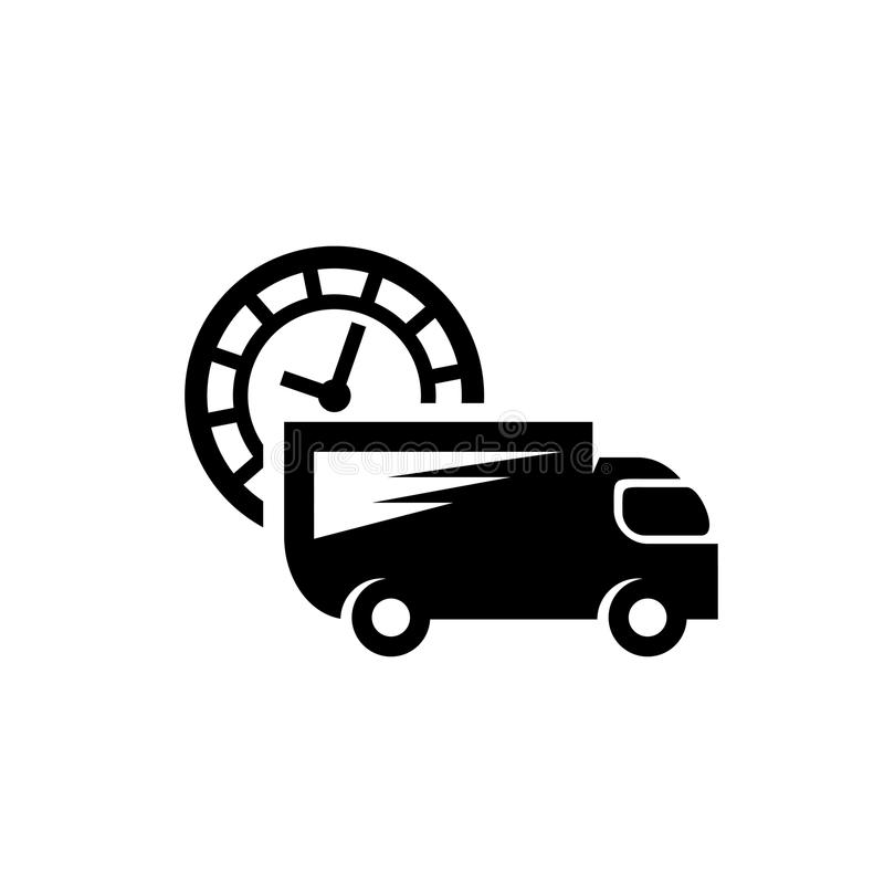 Fast delivery truck icon stock vector. Illustration of ...