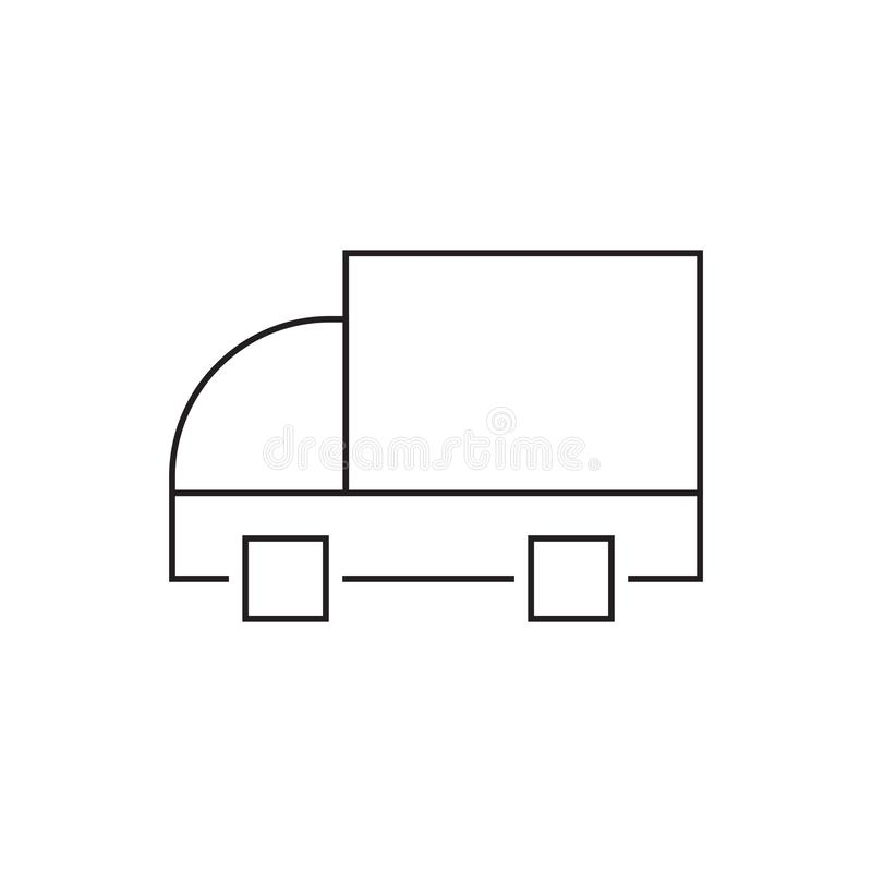 Fast delivery truck line icon. Truck Car icon template black color editable. Delivery Truck symbol vector sign isolated on white. Background. Simple logo vector stock illustration