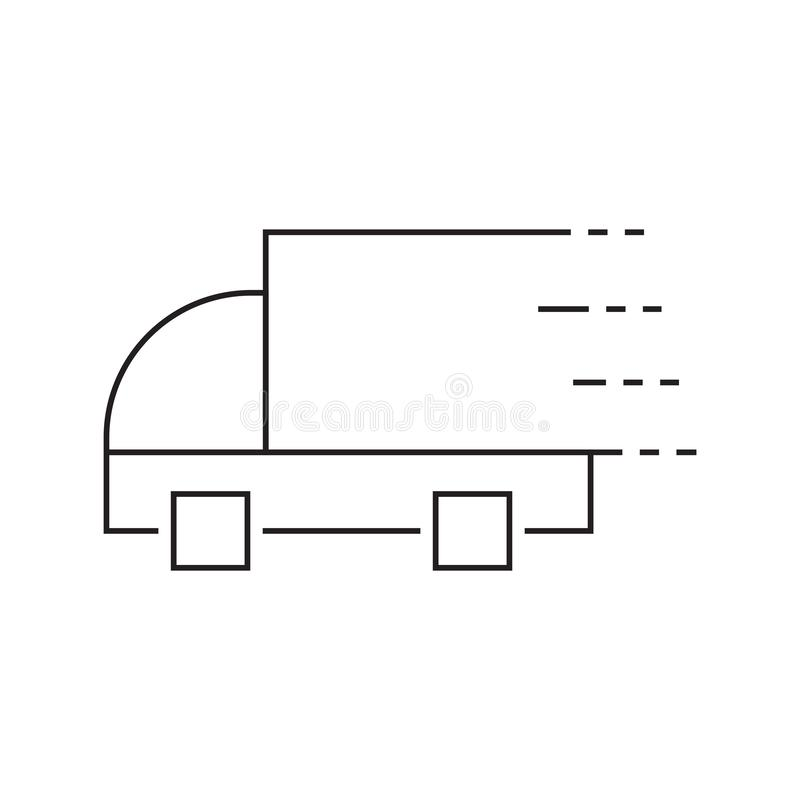 Fast delivery truck line icon. Truck Car icon template black color editable. Delivery Truck symbol vector sign isolated on white. Background. Simple logo vector vector illustration