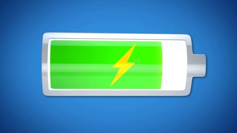 Fast fertige aufladende Batterie, Energieversorgung, kurze Lebensdauer von Elektronik stockfotografie