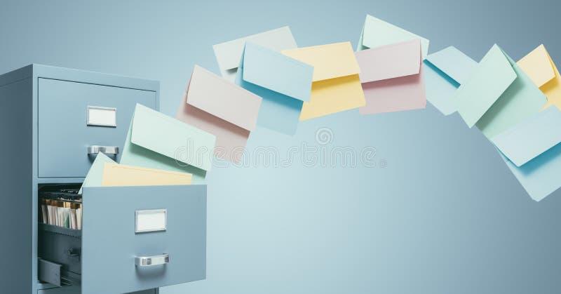 Fast file transfer management royalty free illustration