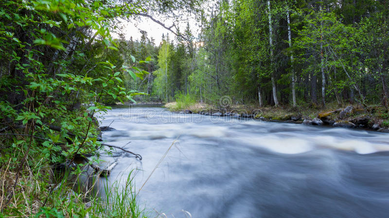 Fast flowing river royalty free stock image