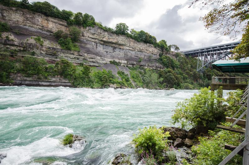 Fast flowing water in niagara falls royalty free stock photography