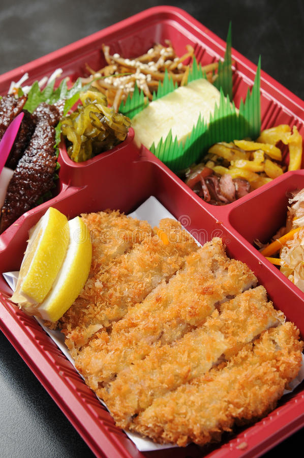 Fast-food. Japanese fast food on the table royalty free stock image
