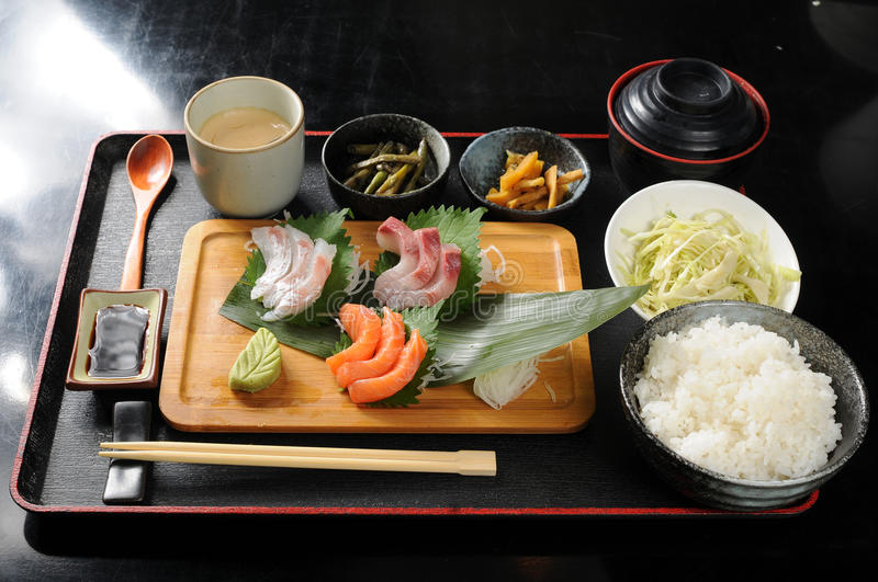Fast-food. Japanese fast food on the table stock photography