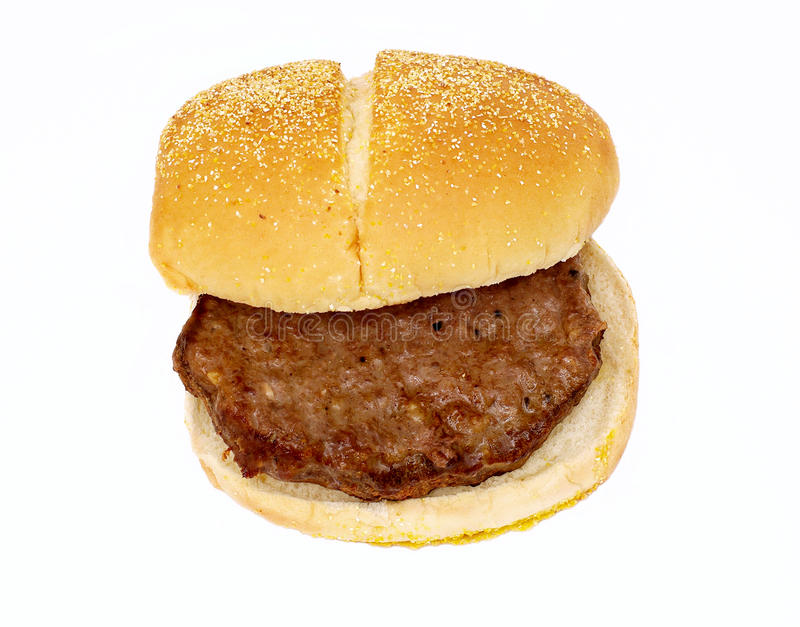 Fast food. High cholesterol greasy meat saturated fats hydrogenated processed trans fats meal white isolated background royalty free stock images