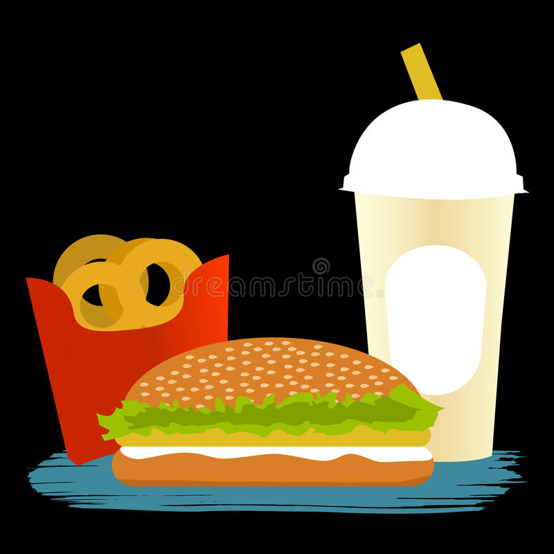 Download Fast food ilustracja wektor. Obraz złożonej z post, babeczka - 16752590